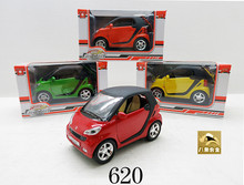 2015 new arrival toys for kids birthday gift free shipping 1:32 Mercedes Benz Smart fortwo model alloy diecast car toys children