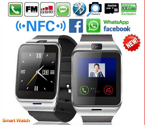 Waterproof GV18 Plus Smart watch phone NFC Camera wrist Watch SIM card Smartwatch for Samsung Android Phone PK DZ09 GT08 U8(China (Mainland))