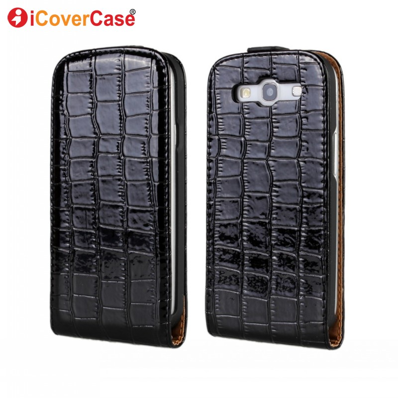 Cover Samsung Galaxy S3 Case Capa Neo i9300i Fundas S III i9305 Lte Coque Croco PU Leather Flip - icovercase Official Store store