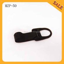 MZP50 Custom black paint Metal Zipper Pulls For Luggage Metal Zip Pullers(China (Mainland))