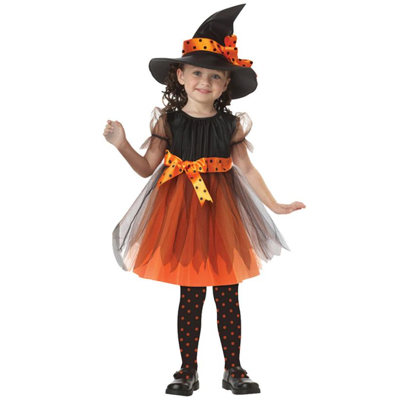 kids party dresses for girls halloween costume for kids With Short Sleeves + Hat party dresses toddler girl clothing dress kids(China (Mainland))