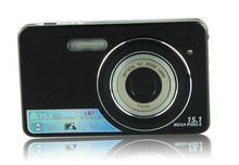 New cheap Touch Camera 3.0 Inch Touch LCD Screen 720P 15MP Digital camera 5x Optical Zoom Video camcorder(China (Mainland))