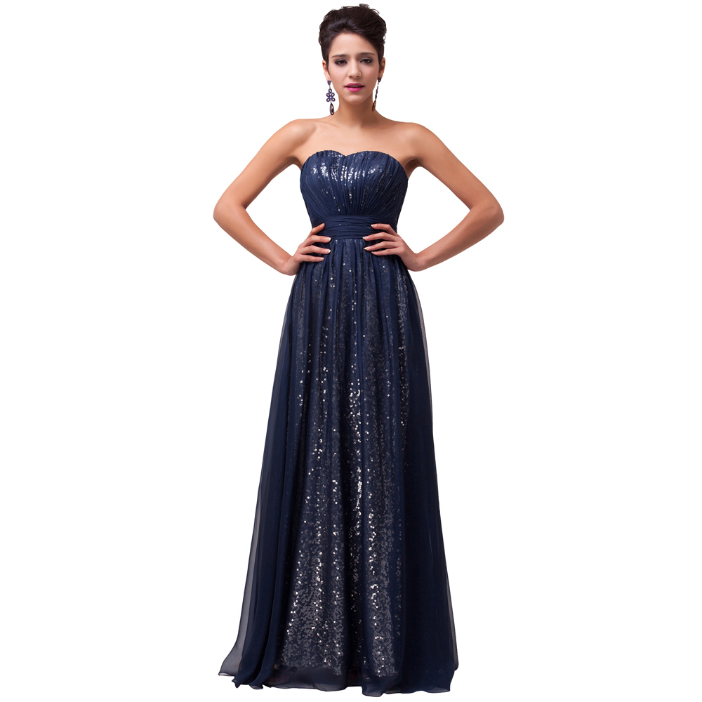 Grace Karin ladies Navy Blue/Green/purple Sequins Evening Dresses 2016 formal Gowns Strapless Special Occasion Party Dress 6005 - Angel Shadow store