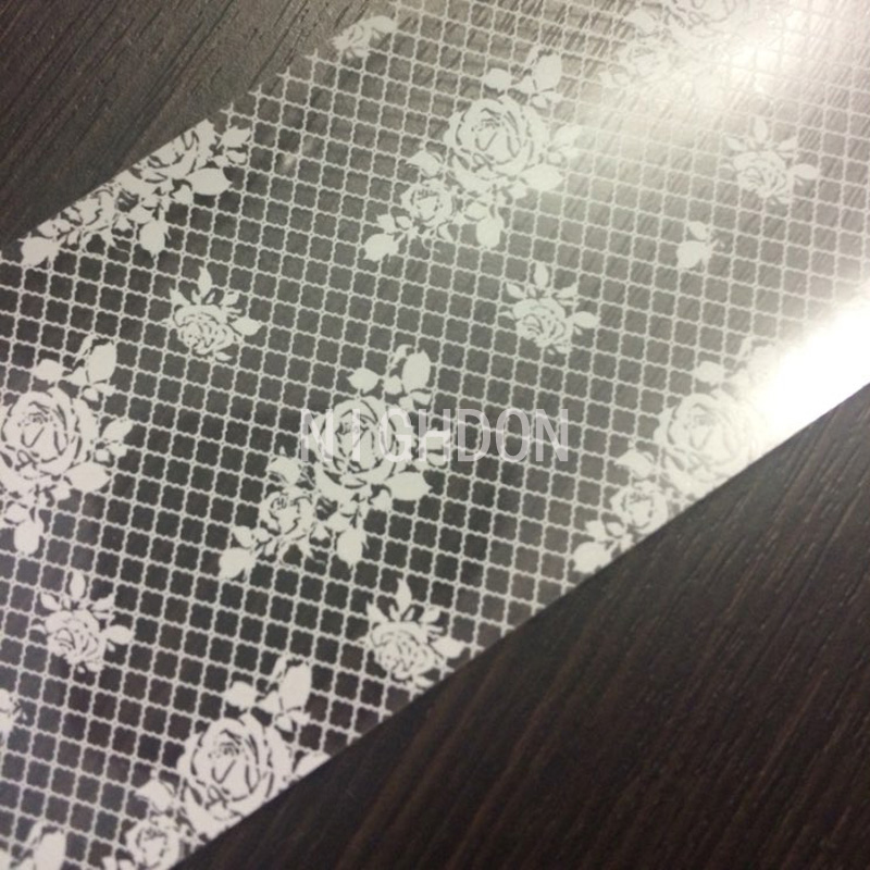 1 Roll White Rose Foils Nail Stickers Nail DIY Nail Wrap Foil Nail Art Decoration Stickers Beauty Lace Grid Decals New NFL0003(China (Mainland))