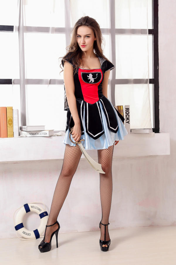 Hollow Out Bust Romper fashion Trouble At Sea Pirate Costume Women Sexy Adult Fancy Dress Game Uniform Halloween Apparel Costume(China (Mainland))