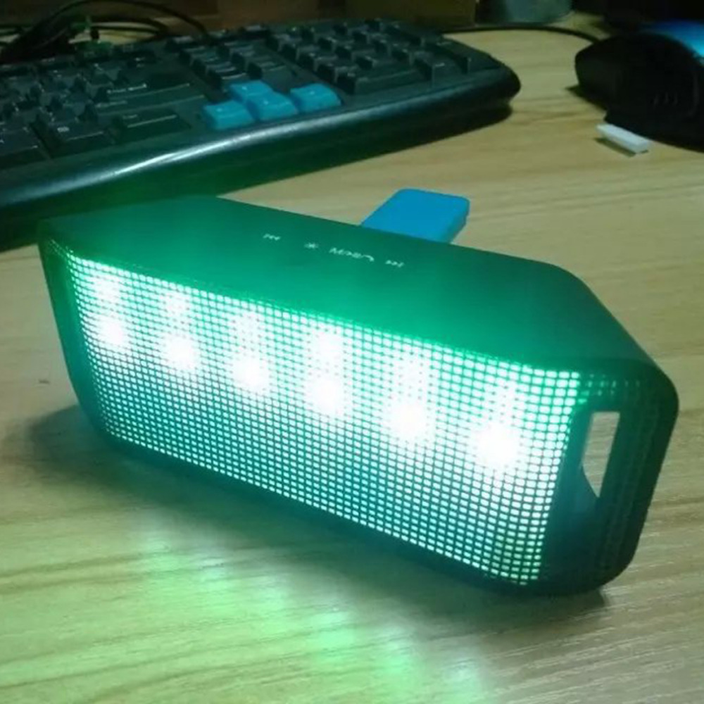 ML-28U Colorful LED music flashing Built-in Bluetooth 3.0 Wireless Speaker Support Handsfree TF MP3 For For Mobile Phones