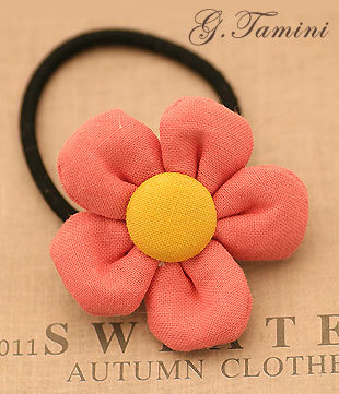 Fabric hairwear Cotton cloth two-color sunflower headband hair accessory fabric hair accessory hair accessory hair rope 970(China (Mainland))