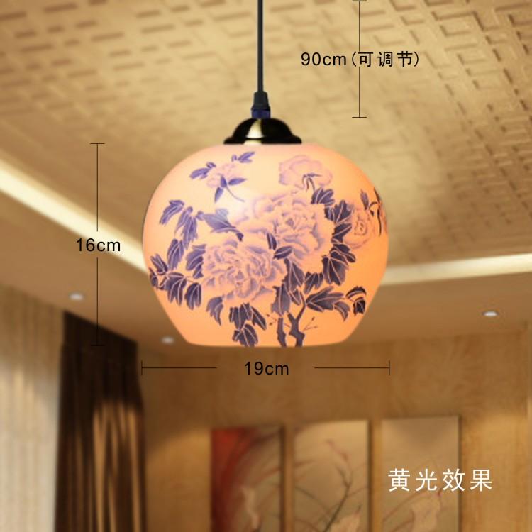 Antique Chinese Style Retro Pendant Lamps Living Room Dining Room Lighting Single Head Ceramic Pendant Light(China (Mainland))
