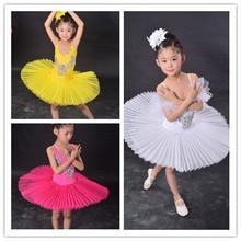 Buy White Swan Lake Pancake Classical Professional Ballet Tutu Dancewear Girls Dance Costume Performance Ballet Dress Children for $31.47 in AliExpress store