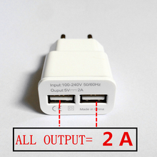 2015 NEW Universal 5V 2A Dual 2 port USB EU Plug Fast Wall Charger For iPhone 5 5S 6 PLUS iPad Mini SAMSUNG Note4 HTC Nexus 4