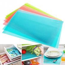 High quality  45*29cm 4 pcs / lot EVA Refrigerator Pad Mat Fridge Anti-fouling Anti Frost Waterproof Pad Kitchen Table Eat Mats(China (Mainland))