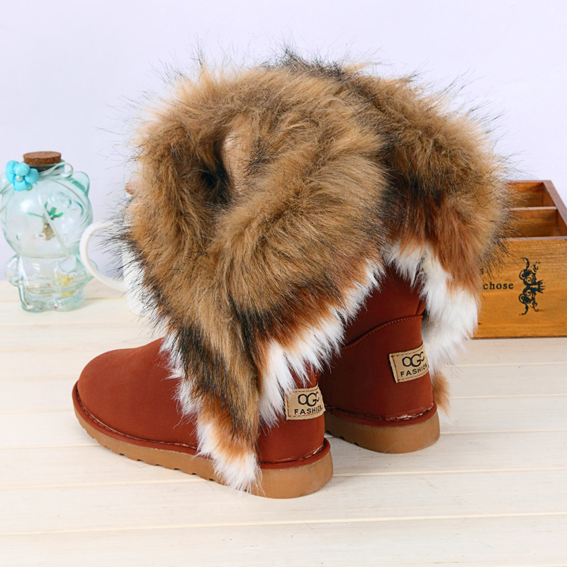 2015 New Women Winter Snow Boots leather boots Ankle Boots Warm fur inside snow boots for women women's winter shoes size 36-43(China (Mainland))