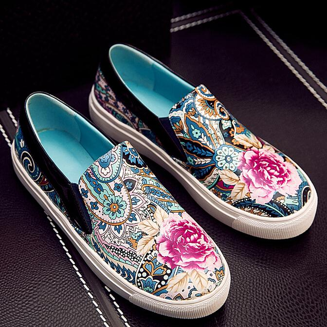 new sweety style Embroidered casual round-toe women flat women Casual shoes Comfortable Platform women shoes flat sale<br><br>Aliexpress