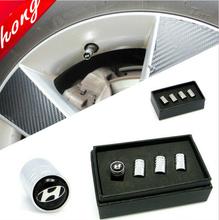 4Pcs/Set Free Shipping Hyundai Car emblem Chrome Metal Wheel Tire Valve Caps Air Stem for Sonata Rena Auto accessories(China (Mainland))