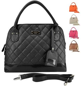2014 Trend Plaid Pattern PU Leather Brand Bag 5 Colors Tote Bags Fashion Women Handbags/Free Shipping HEC006