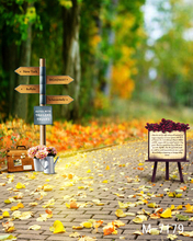 200CM * 300CM backgrounds for photo studio Cloth photography background The woods road signs the small blackboard leaves m-7179