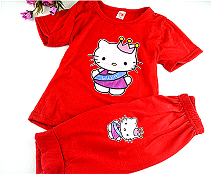 2015 summer style kids cclothing baby girl clothes clothing set kid t shirt sets children kids sets girls free shippingKDST002-2<br><br>Aliexpress