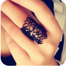 Min.order is $8 (mix order)2014 New!! Fashion Accessories Cutout Lace Flower Women Ring Finger Ring Factory Wholesale XY-R201