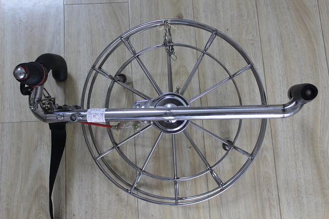 FREE SHIPPING!26cm Kite Wheel High Quality stainless steel,kite handle with strap