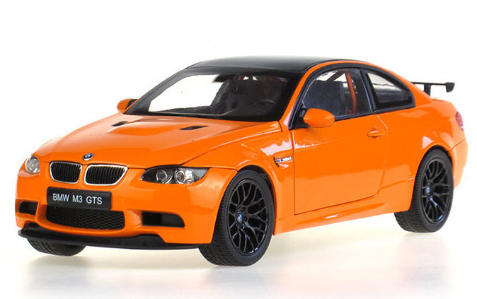 2015 hot sell M3 GTS 1:18 orange alloy car model(China (Mainland))