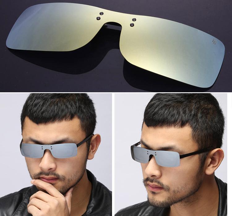 2016 summer style sunglasses New pattern Color Polarized Sunglasses One clip Sports myopia Polarized glasses clip(China (Mainland))