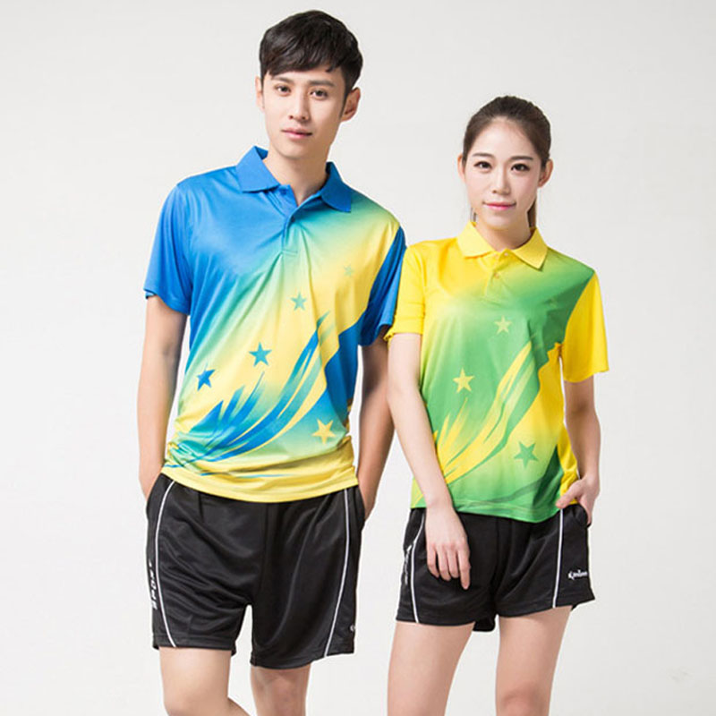 Women Table Tennis Sets Wicking Game Training Suits Lovers Sports Clothing Men Lady Shirts And Shorts Tennis Badminton Suit(China (Mainland))