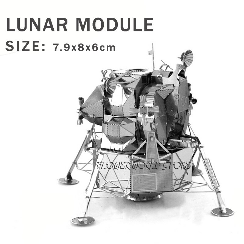 New creative Lunar Module 3D puzzles 3D metal model Creative DIY Apollo Space capsule Jigsaws Adult/Children gifts toys Etc.(China (Mainland))