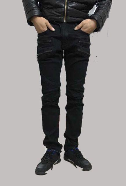 Nwt BP стильная мужская мода стретч тонкий промывали байкер черные джинсы размер ...