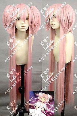 Wholesale price Hot Sell! TSC^^^^HOTsell ! Magical Girl Round kaname madoka Long 100cm Dark Pink Cosplay Wig &185