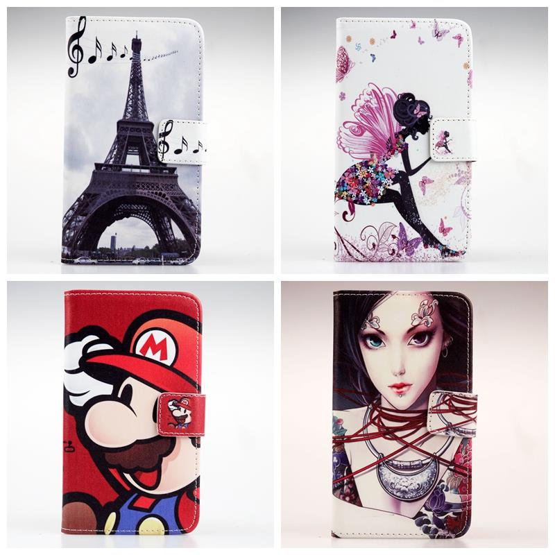 Iron Tower For Philips S308 Book Style Hot Sale Stand Painted Flip Cover Cute Optional New Arrive Skin Pouch PU Leather Case(China (Mainland))