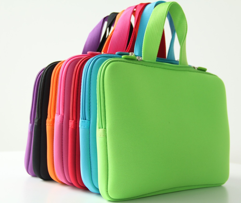 2016 New Pure color 10.0 Netbook Laptop Computer Sleeve Inner Zipper Bag Cases Cover Pouch Protector Bags Bolsa +Handle NH10P(China (Mainland))