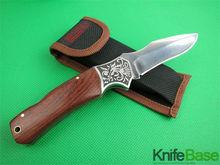 Boda Steel flower head 0081G folding knife nylon sleeve 5Cr13 56hrc Steel flower + rosewood handle hunting knives free shipping