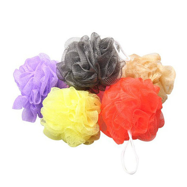 10pcs Bath Shower Body Exfoliate Puff Sponge Mesh Net Bath Balls Set (Random Color)