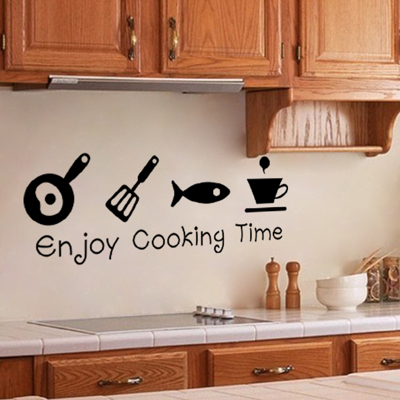 New Design Creative DIY Wall Stickers Kitchen Decal Home Decor Restaurant Decoration 3D Wallpaper Wall Art ZY8300(China (Mainland))