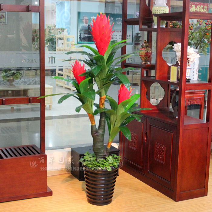 Artificial flower bonsai artificial plants plastic fake tree French 3 flower decoration(China (Mainland))