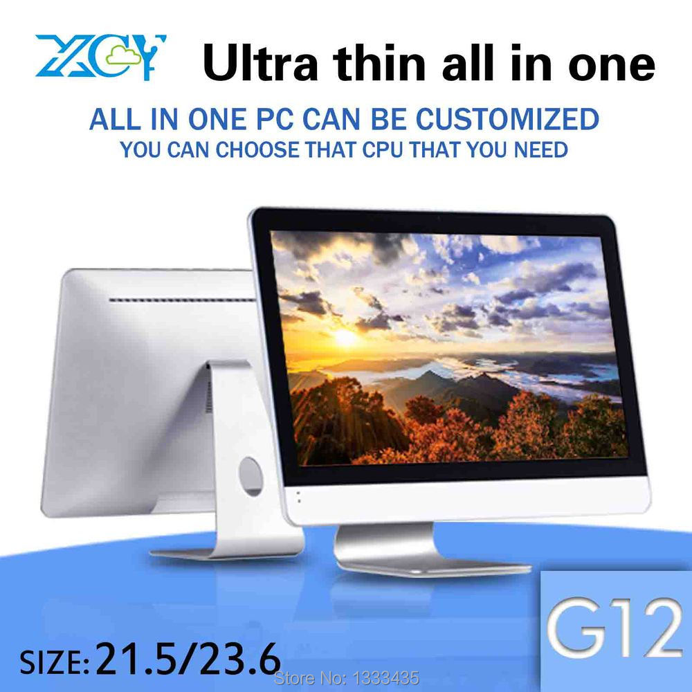 It can support VGA/HDMI XCY G12 4g ram and 500g hdd with a fan desktop computer all in one pc electronics(China (Mainland))