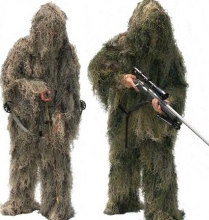 Фотография CAMO GHILLIE Hunting Clothing camouflage shade cloth TACTICAL CAMOUFLAGE SUIT 4 Grass Type Camouflage Shade Cloth Ghillie Suit