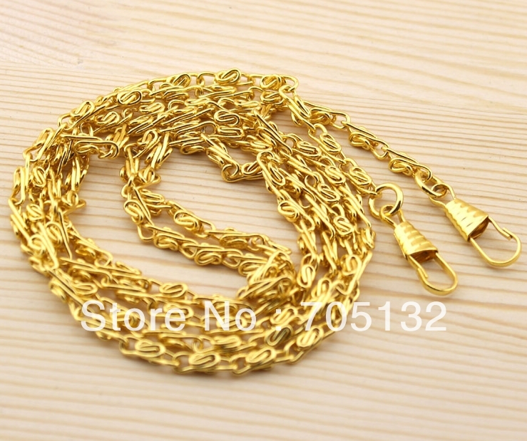"47""/120cm bag metal chains gold DIY purse accessories 20pcs best quality Freeshipping(China (Mainland))"