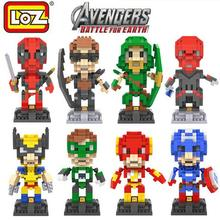 LOZ Marvel Super Heroes Deadpool Diamond Micro Building Blocks Action Figure Animation Minifigure