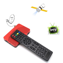 SKY Mini Size FTA DVB-S2 HD Digital Satellite IPTV Combo Receiver Set Top BOX + WIFI Dongle Biss Key Power VU IKS Internet Share