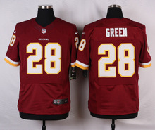 Washington Redskins #28 Darrell Green Elite White and Burgundy Red Team Color free shipping(China (Mainland))