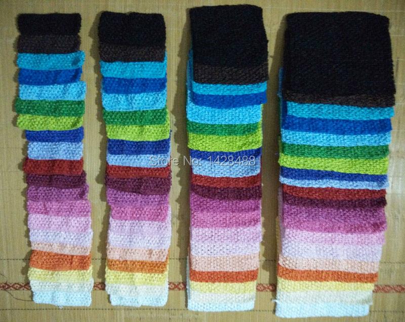 80pcs/lot New Arrival 1.5inch-9inch Baby Girl Crochet Tutu Tube Tops Chest Wrap Wide Elastic Crochet headbands Free Shipping(China (Mainland))