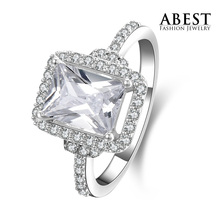 2013 Hot Sale Engagement Ring Gift,  Wholesale Price 925 Silver Lady Engagement Ring, Best Sale 925 Silver Lady Ring