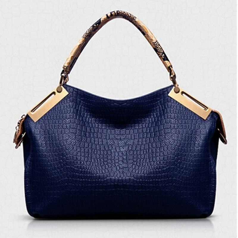 Fashion Vintage Women Handbag Crocodile Pattern Genuine PU Leather Bag One Shoulder Women Messenger Bag Free shipping New 2014