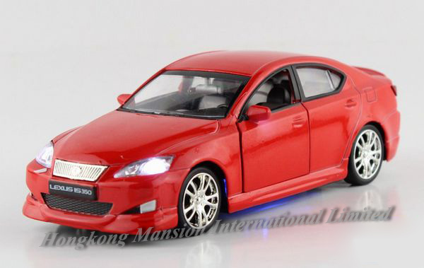 1:32 Scale Alloy Diecast Car Model For Lexus IS350 Collection Model Pull Back Car Toys Sound&Light-Gold/ White/ Black/ Blue/ Red(China (Mainland))