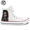 Tattoo Skull Shoes Woman Man Painted Custom Canvas Casual Shoes Boys Girls Christmas Gifts Birthday Gifts