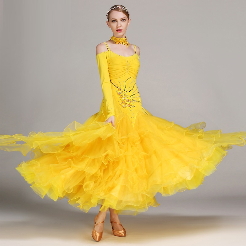 Show details for 6 Colors Ballroom Dance Competition Dresses Dance Ballroom Waltz Dresses Standard Dance Dress Modern Dance Dress Foxtrot Tango