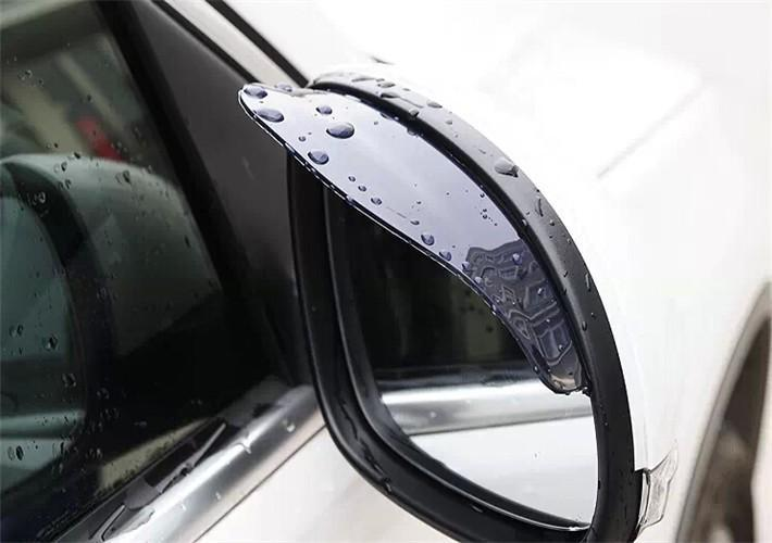 2PCS Car Accessories Rear View Mirror Weatherstrip Flexible Rear View Mirror Anti Rain Guard Shade Auto