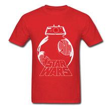 Высокое качество Звездные войны футболка Мужская Серебряный дроид футболка Мультфильм Топы черные футболки хлопковая одежда подарок на де...(China)