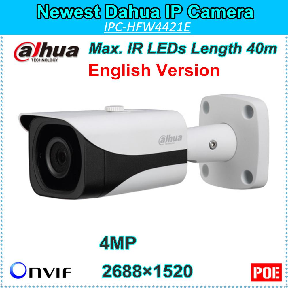 English Firmware Dahua 4MP IP Camera DH-IPC-HFW4421E Support Smart Detection WDR IR LEDs Length 40m IPC-HFW4421E<br><br>Aliexpress